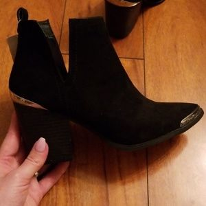 Black Mossimo Cutout Boots with tags